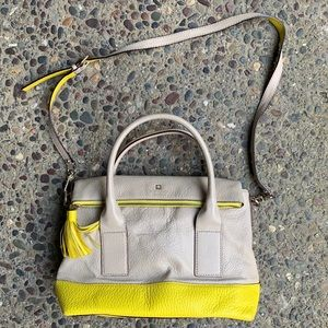 Kate Spade satchel with yellow trim